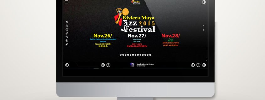 Riviera Maya Jazz Festival 2015 | Diseño Web
