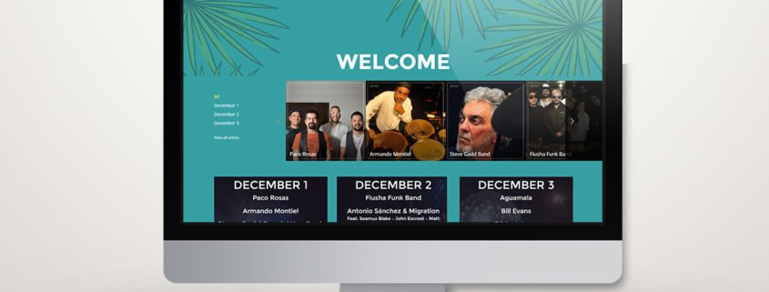 Riviera Maya Jazz Festival 2016 | Diseño Web